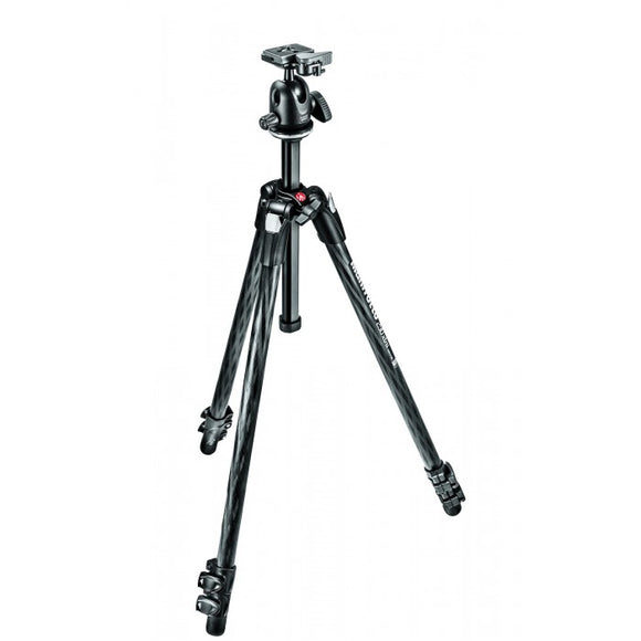 Manfrotto 290 XTRA CARBON Kit, CF 3 Sec. Tripod With Ball Head (MK290XTC3-BH)