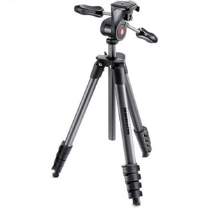 Manfrotto Compact Advanced Aluminum Tripod (Black) (MKCOMPACTADV-BK)