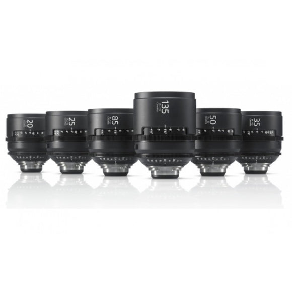 Sony CineAlta 4K PL mount lens pack x6 (metric)