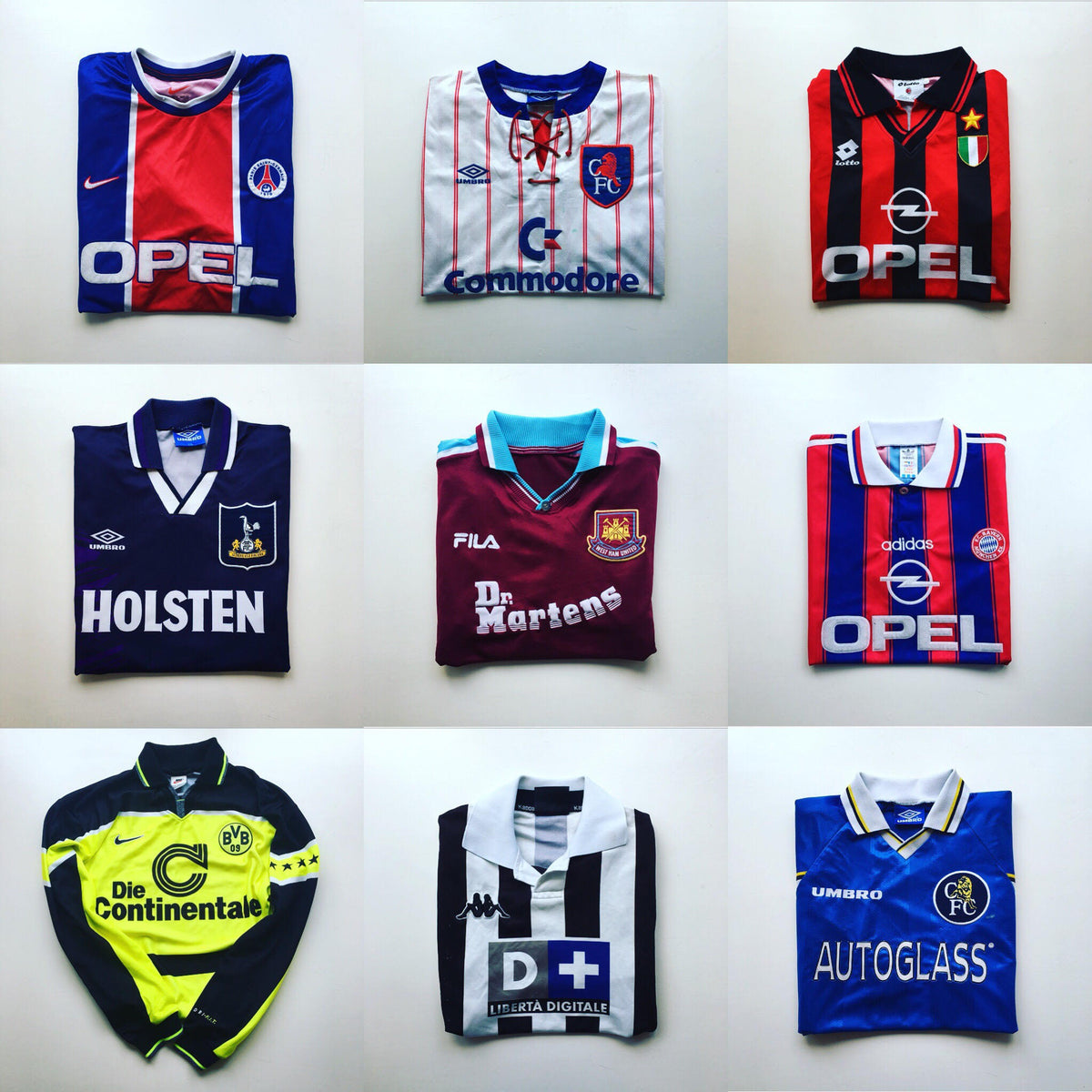 95f6fb97506 Original, authentic, vintage football shirts from the 80's, 90's and the  present day.