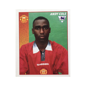 1996/97 Andy Cole Manchester United Merlin Football Sticker