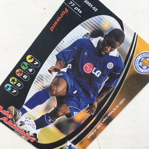 2001/02 Ade Akinbiyi Leicester City Trading Card