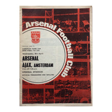 1970 Arsenal v Ajax Match Programme