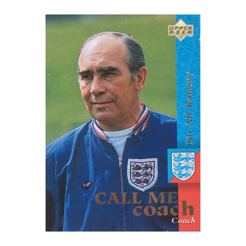 1963-74 Sir Alf Ramsey England Manager Upper Deck Trading Card