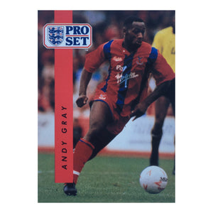 1990/91 Andy Gray Crystal Palace Pro Set Trading Card