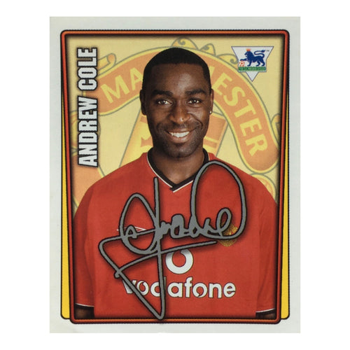 2001/02 Andrew Cole Manchester United Merlin Football Sticker