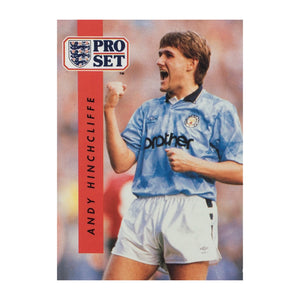 1990/91 Andy Hinchcliffe Manchester City Pro Set Trading Card