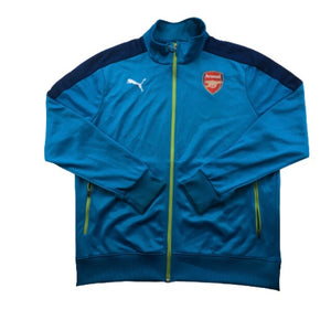 2014/15 Arsenal Zip Up Tracksuit Training Top - L