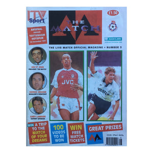 1990 Arsenal v Tottenham ITV Sport 'The Match' Magazine