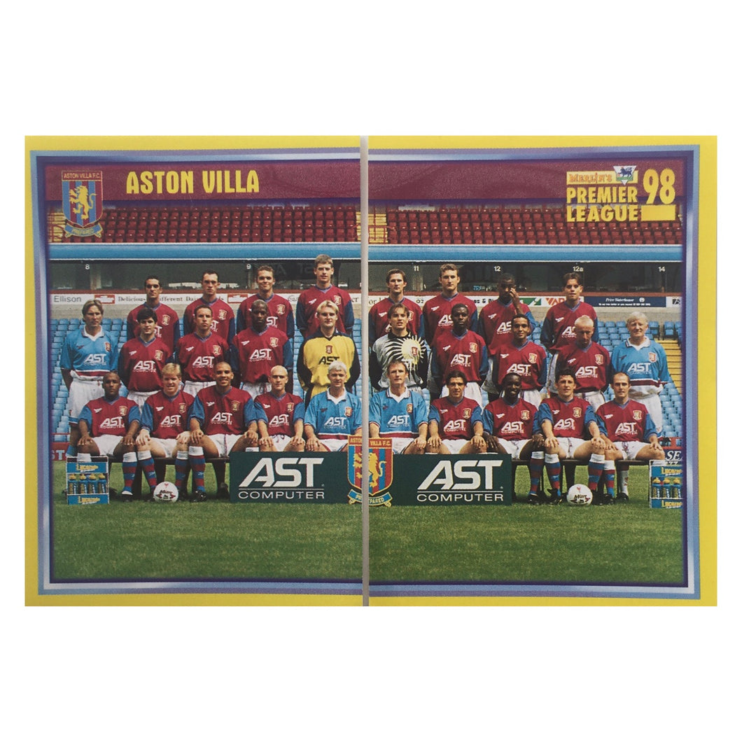 1997/98 Aston Villa Squad Photo Merlin Football Stickers