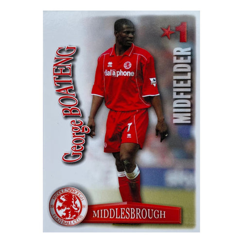 2003/04 George Boateng Middlesbrough Shootout Trading Card