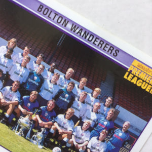 1995/96 Bolton Wanderers Squad Photo merlin Football Sticker