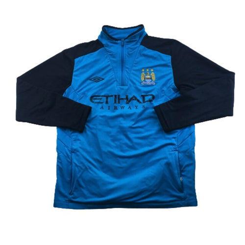 2010/11 Manchester City 1/2 Zip Training Sweat Top - XL