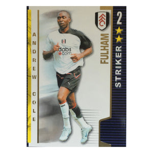 2004/05 Andrew Cole Fulham Shoot Out Trading Card