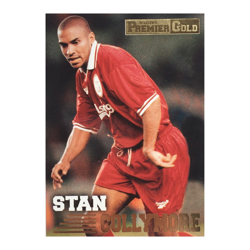 1997 Stan Collymore Liverpool Premier Gold Trading Card
