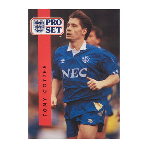 1990/91 Tony Cottee Everton Pro Set Trading Card