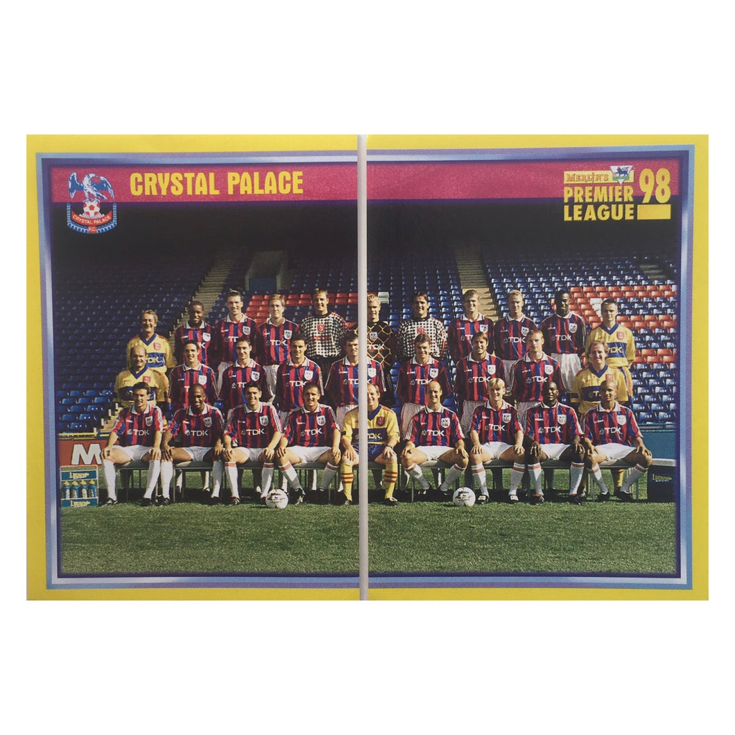 1997/98 Crystal Palace Squad Photo Merlin Football Stickers