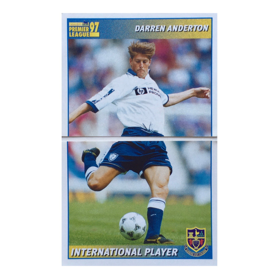 1996/97 Darren Anderton Top & Bottom Half Merlin Football Sticker