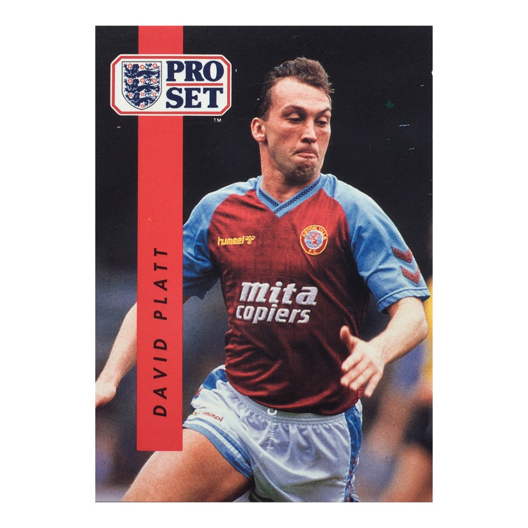 1990/91 David Platt Aston Villa Pro Set Trading Card