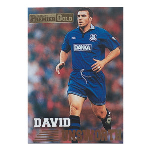 1997 David Unsworth Everton Premier Gold Trading Card