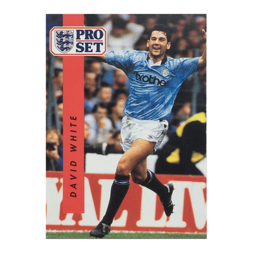 1990/91 David White Manchester City Pro Set Trading Card