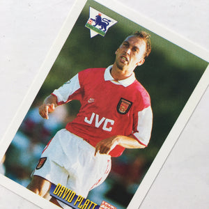 1996 David Platt Arsenal Merlin Trading Card