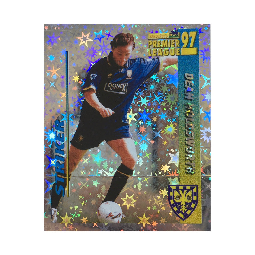 1996/97 Dean Holdsworth Wimbledon Shiny Football Sticker
