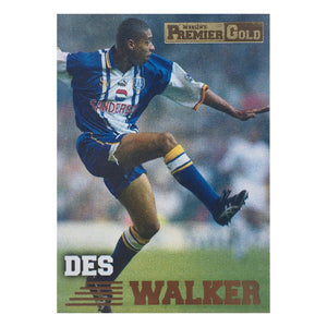 1997 Des Walker Sheffield Wednesday Premier Gold Trading Card
