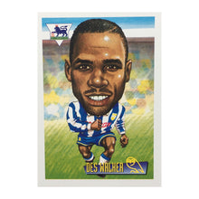 1996 Des Walker Sheffield Wednesday Merlin Trading Card