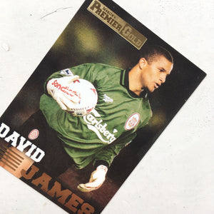 1997 David James Liverpool Premier Gold Trading Card