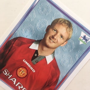 1997/98 David May Manchester United Merlin Football Sticker
