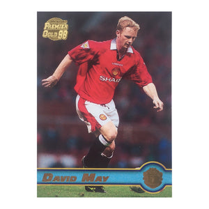 1998 David May Manchester United Premier Gold Trading Card