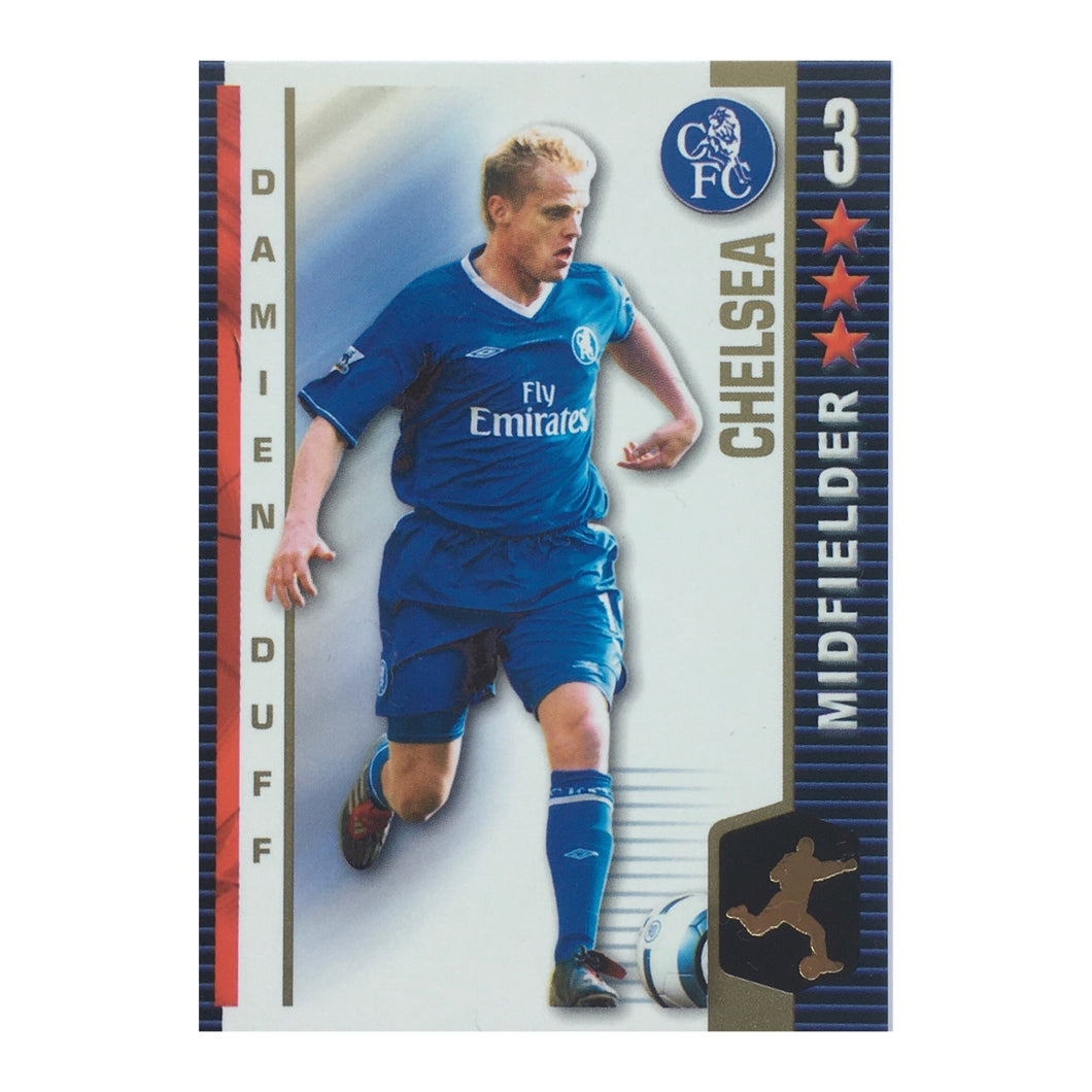 2004/05 Damien Duff Chelsea Shoot-Out Trading Card