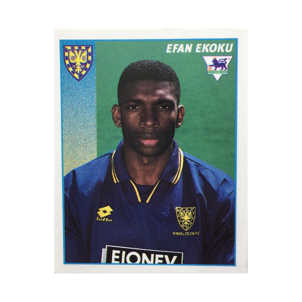 1996/97 Efan Ekoku Wimbledon Merlin Football Sticker