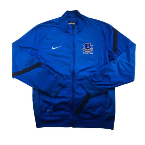 2012/13 Everton Zip Up Tracksuit Training Top - L