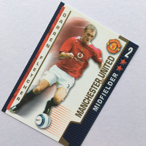2004/05 Darren Fletcher Manchester United Shoot Out Trading Card