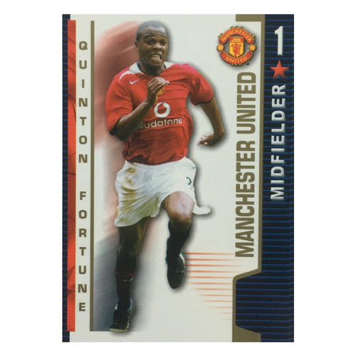 2004/05 Quinton Fortune Manchester United Shoot Out Trading Card