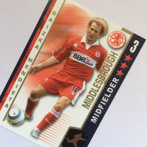 2004/05 Gaizka Mendieta Middlesbrough Shoot Out Trading Card