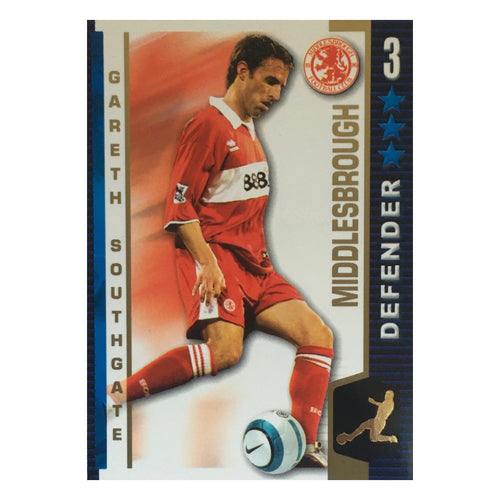 2004/05 Gareth Southgate Middlesbrough Shoot Out Trading Card