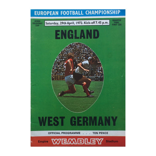 1972 England v West Germany Matchday Programme