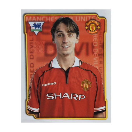 1998/99 Gary Neville Manchester United Merlin Football Sticker