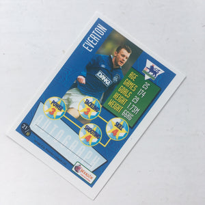 1996 Graham Stuart Everton Merlin Trading Card