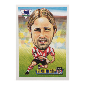 1996 Michael Gray Sunderland Merlin Trading Card