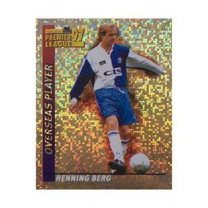 1996/97 Henning Berg Blackburn Rovers Shiny Merlin Football Sticker