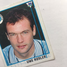 1995/96 Uwe Rosler Manchester City Merlin Football Sticker