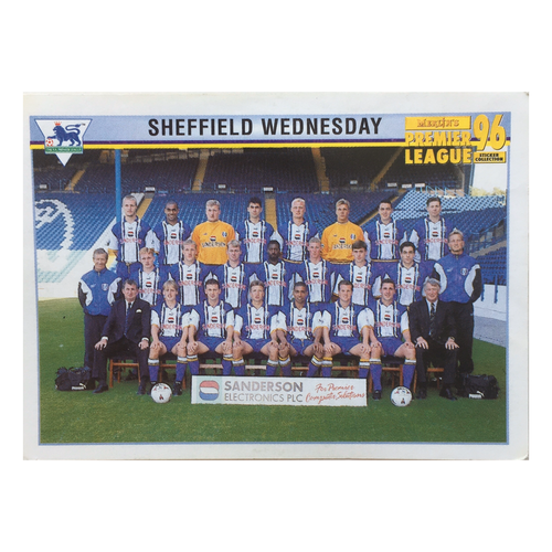 1995/96 Sheffield Wednesday Squad Photo Merlin Football Sticker