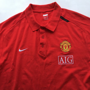 2007/08 Manchester United Training Polo Shirt - L