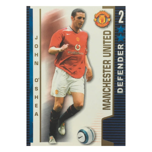 2004/05 John O'Shea Manchester United Shoot Out Trading Card