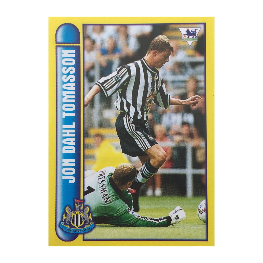 1997/98 Jon Dahl Tomasson Newcastle United Merlin Football Sticker