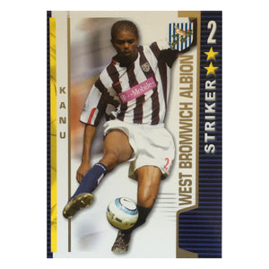 2004/05 Kanu West Brom Shoot Out Trading Card